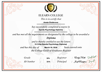 Cholevová Sports Psychology Diploma